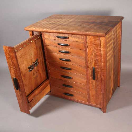 Koa Cabinet with Dragonfly Inlay : jewelry box cabinet - Aboutintivar.Com
