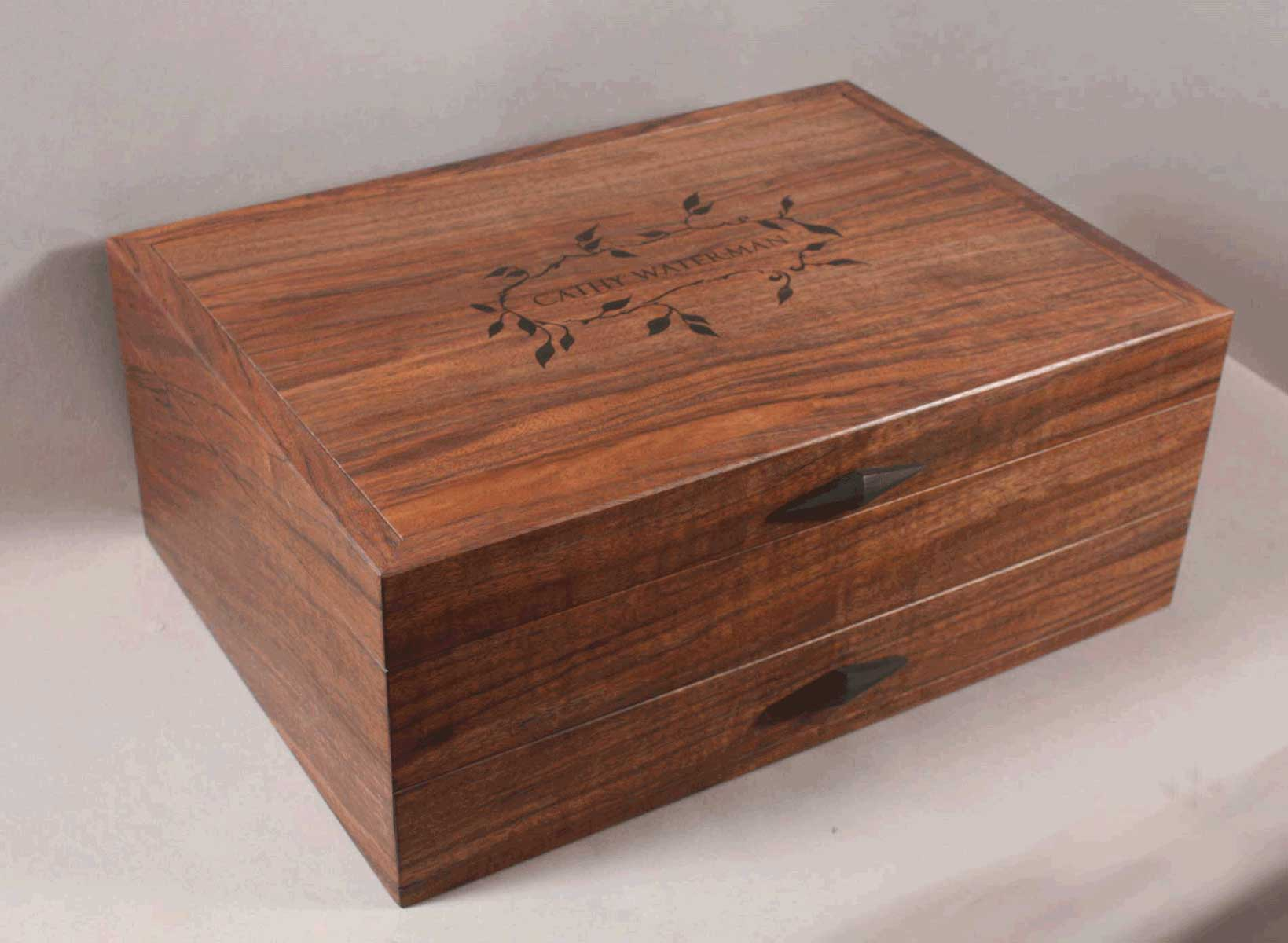 hand made custom silverware chests