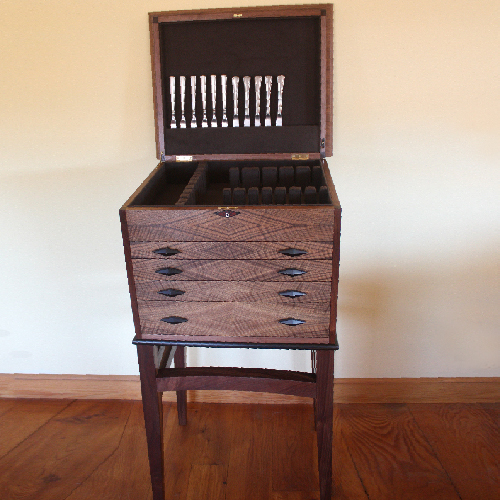 Silverware Chest Custom Open