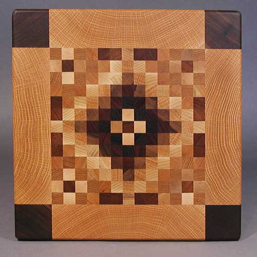 endgrain quilt  cutting board