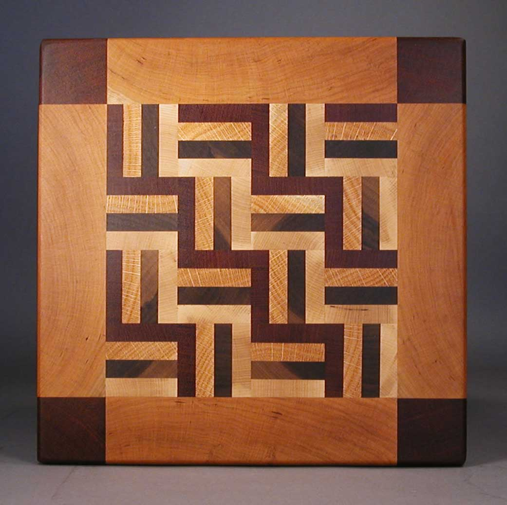 large quilt pattern endgrain cutting boards