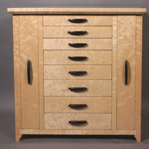 Bird 39 s eye maple cabinet for Birds eye maple kitchen cabinets