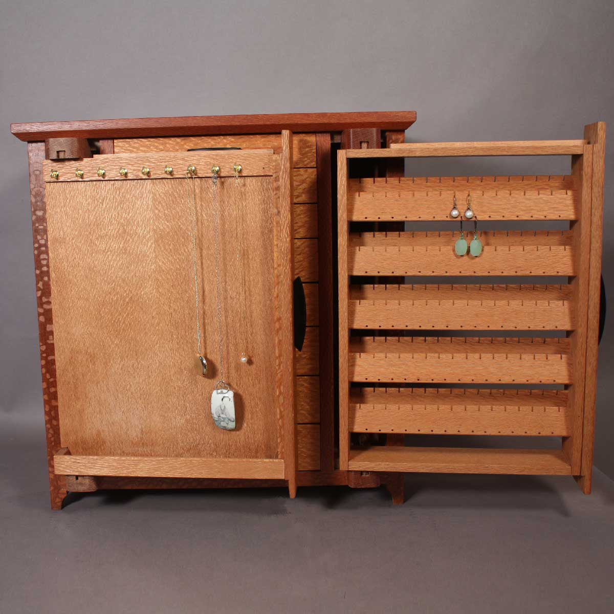 Lacewood Custom Jewelry Cabinet