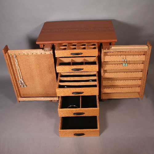 Genial Handcrafted Jewelry Armoire