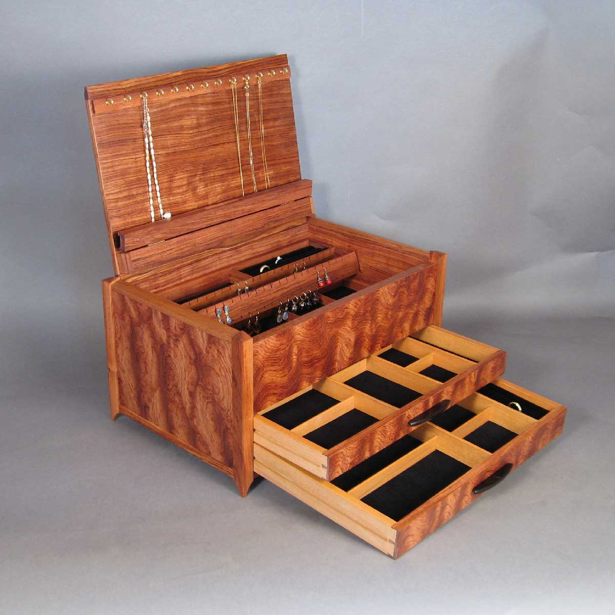 jewelry box with handcrafted details