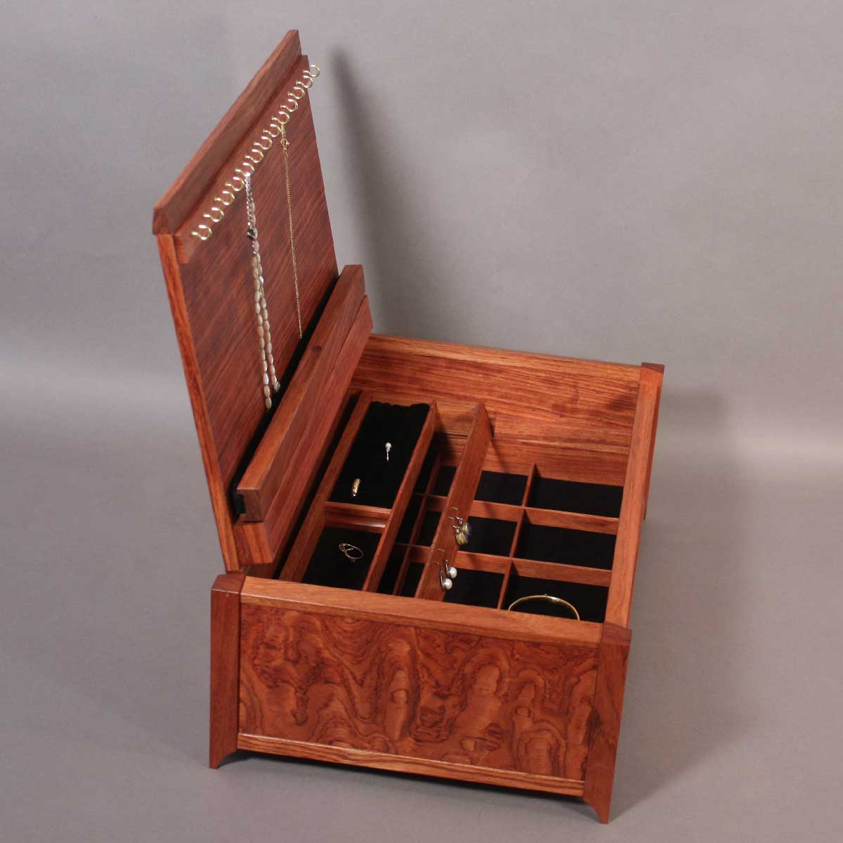Bubinga Jewelry Box With Handcrafted Details