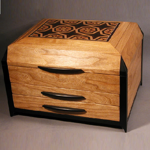 Brazilian tulipwood and other archived jewelry boxes