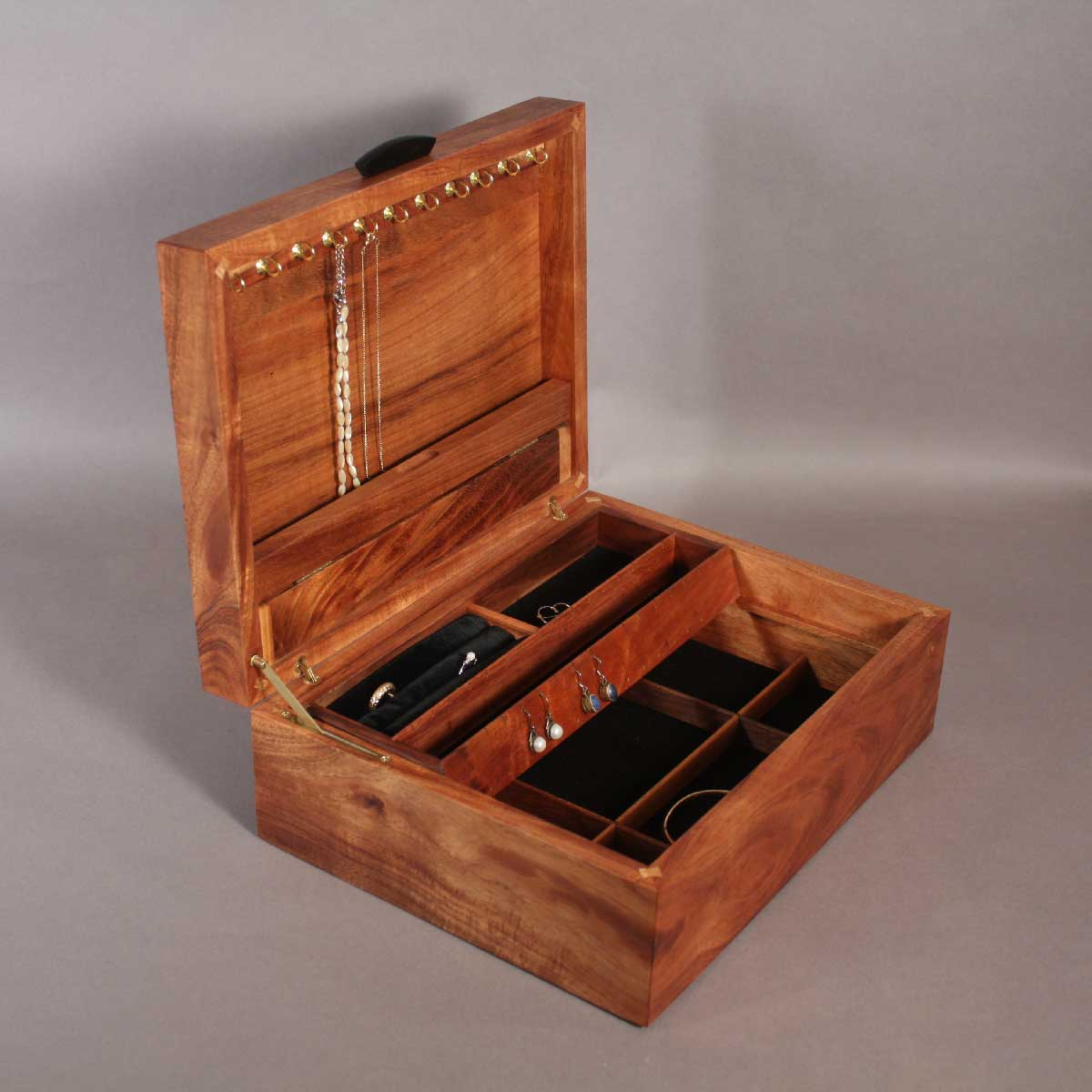 jewelry box koa jewelry boxes with handcrafted inlay 3663