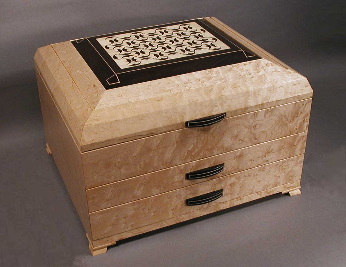 birds eye maple inalid jewelry box