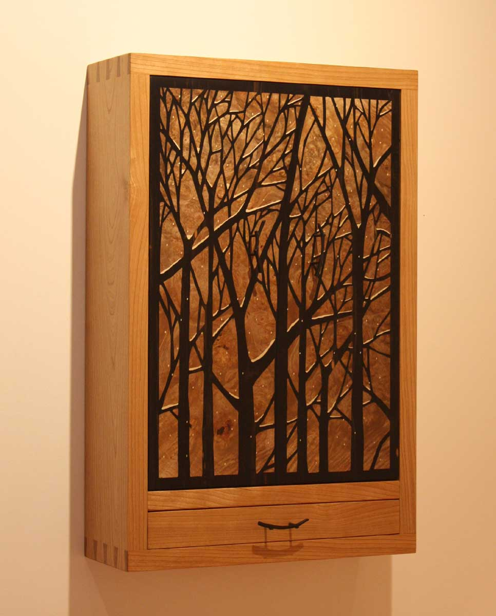 Tree Wall Hung Jewelry Cabinet