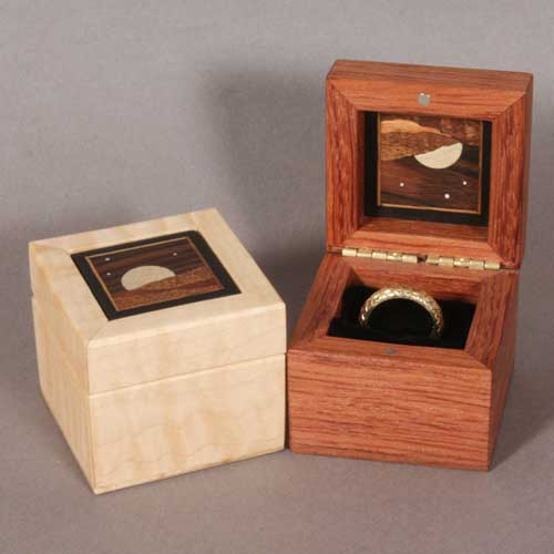 small boxes and ring boxes