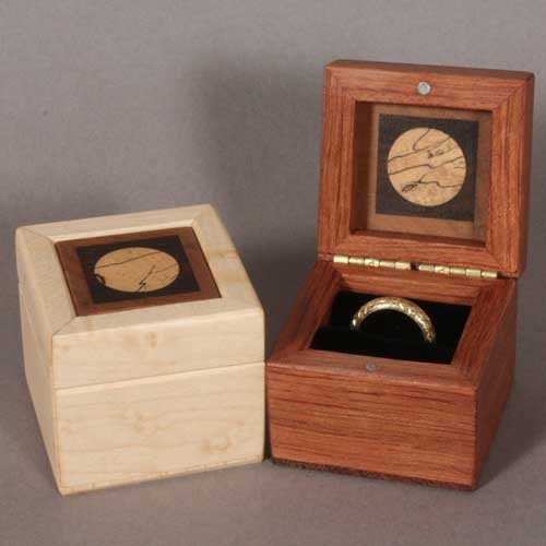 Wood Ring Boxes For Wedding Rings And Engagement Rings