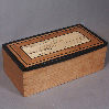 small inlaid wooden box